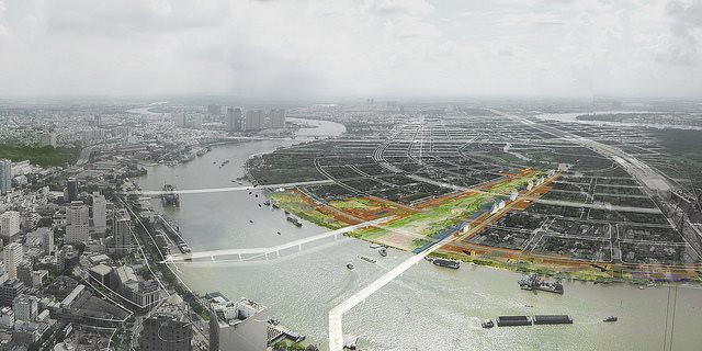 Quảng trường Khu đô thị mới Thủ Thiêm do công ty cổ phần đầu tư địa ốc Đại Quang Minh đề xuất.