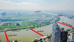 TP.HCM sẽ xây dựng thêm 4 cây cầu bắc qua Khu đô thị mới Thủ Thiêm