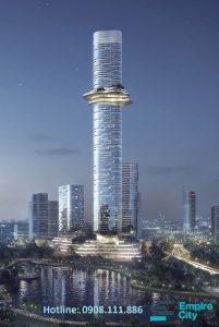 Bán căn hộ Empire City 2 phòng ngủ diện tích 98m2. Tầng cao view sông Saigon