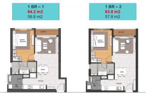 Bán lại căn hộ Empire City Thủ Thiêm 1 phòng ngủ, diện tích 64m2, view hồ bơi