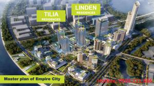 Bán duplex Empire City Thủ Thiêm Quận 2, tháp Tilia Residences, 203 m2, view sông SG, Bitexco