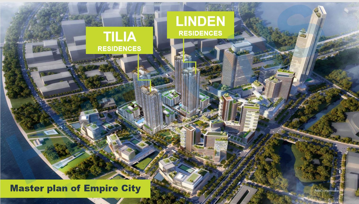 Vị trí tháp Tilia Residences - Empire City